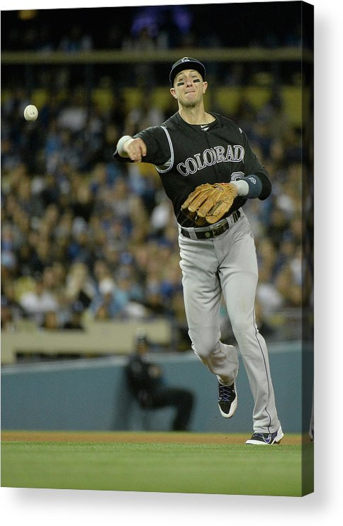 California Acrylic Print featuring the photograph Paul Maholm and Troy Tulowitzki by Harry How