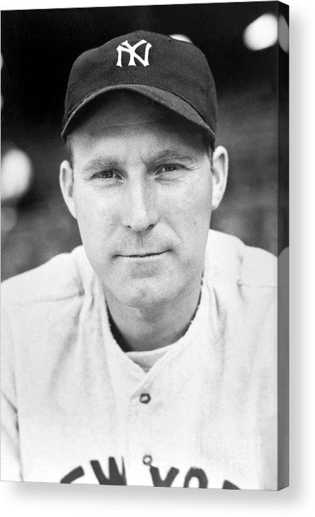 American League Baseball Acrylic Print featuring the photograph Red Ruffing by National Baseball Hall Of Fame Library