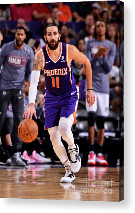 Nba Pro Basketball Acrylic Print featuring the photograph Ricky Rubio by Barry Gossage