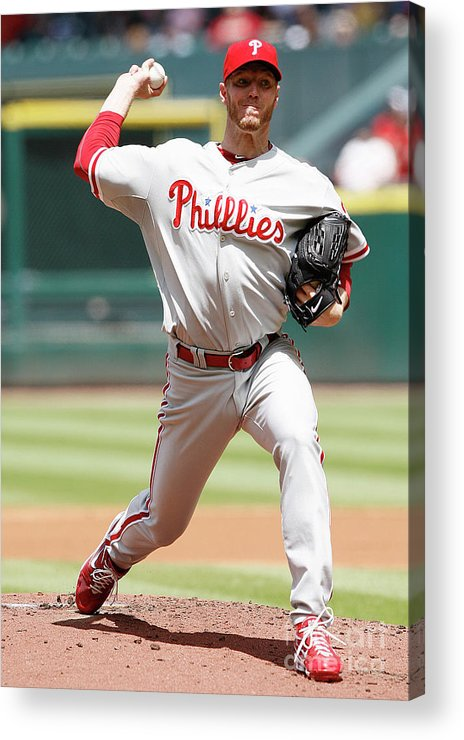 Minute Maid Park Acrylic Print featuring the photograph Roy Halladay by Bob Levey