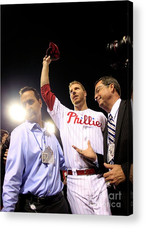 Crowd Acrylic Print featuring the photograph Roy Halladay by Chris Trotman