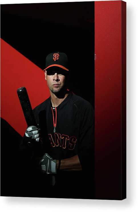 Ryan Vogelsong Acrylic Print featuring the photograph Ryan Vogelsong by Christian Petersen