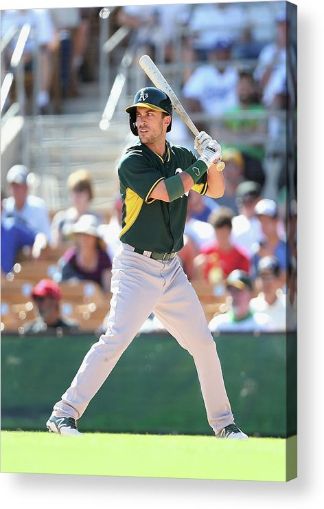 American League Baseball Acrylic Print featuring the photograph Sam Fuld by Christian Petersen