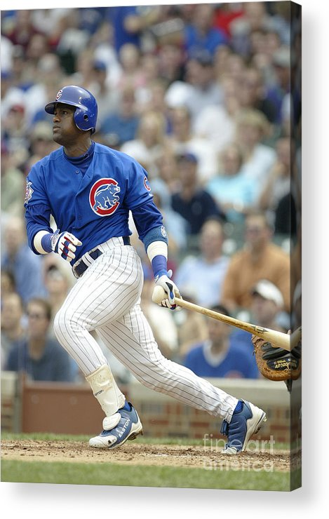 Motion Acrylic Print featuring the photograph Sammy Sosa by Ron Vesely