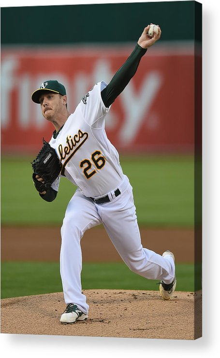 American League Baseball Acrylic Print featuring the photograph Scott Kazmir by Thearon W. Henderson