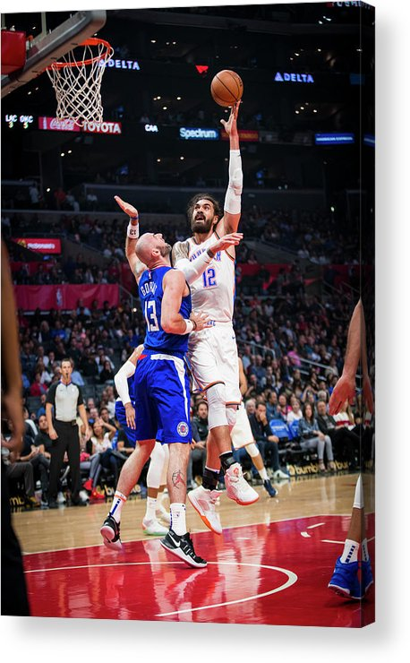 Nba Pro Basketball Acrylic Print featuring the photograph Steven Adams by Zach Beeker