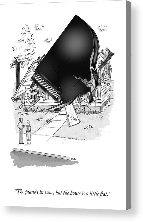 Cctk Acrylic Print featuring the drawing The Piano's In Tune by Teresa Burns Parkhurst