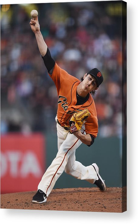 San Francisco Acrylic Print featuring the photograph Tim Lincecum by Thearon W. Henderson