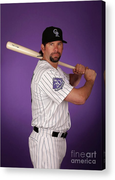 Media Day Acrylic Print featuring the photograph Todd Helton by Christian Petersen
