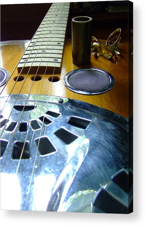 Dobro Acrylic Print featuring the photograph Tools Of The Trade by Everett Bowers