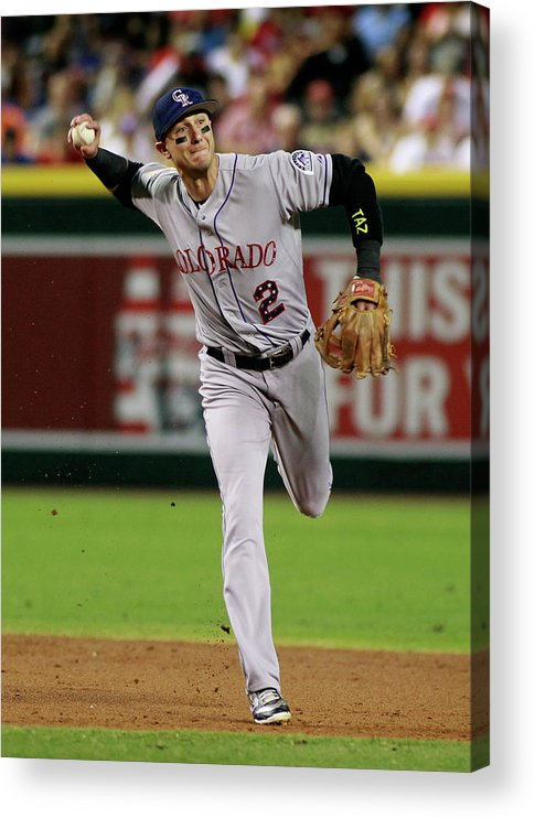Second Inning Acrylic Print featuring the photograph Troy Tulowitzki by Ralph Freso