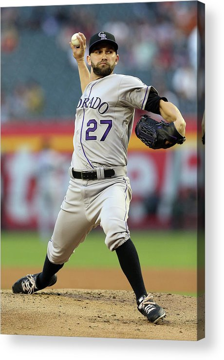 Baseball Pitcher Acrylic Print featuring the photograph Tyler Chatwood by Christian Petersen