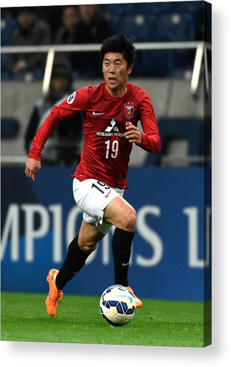 Saitama City Acrylic Print featuring the photograph Urawa Red Diamonds v Beijing Guoan - AFC Champions League Group G by Etsuo Hara