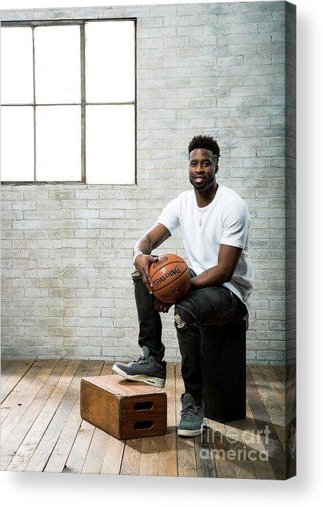 Nba Pro Basketball Acrylic Print featuring the photograph Wesley Matthews by Nathaniel S. Butler