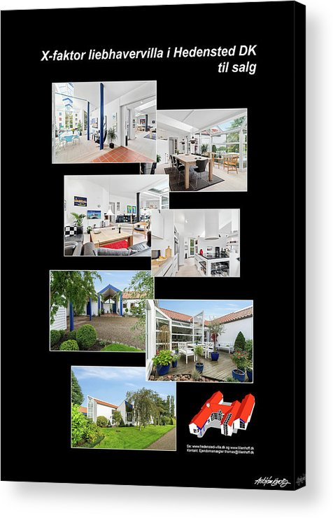 Acrylic Print featuring the mixed media X-Factor House in Hedensted, Denmark for sale. by Asbjorn Lonvig
