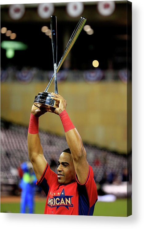 Yoenis Cespedes Acrylic Print featuring the photograph Yoenis Cespedes by Rob Carr