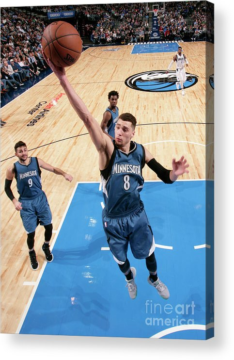 Nba Pro Basketball Acrylic Print featuring the photograph Zach Lavine by Glenn James
