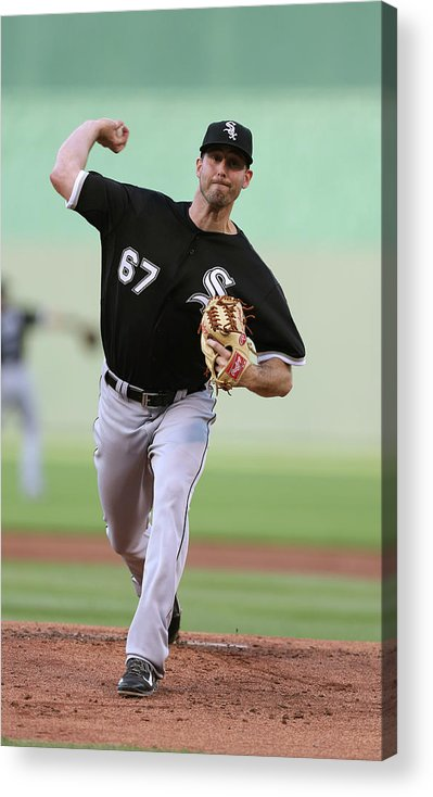 American League Baseball Acrylic Print featuring the photograph Chicago White Sox V Kansas City Royals by Ed Zurga