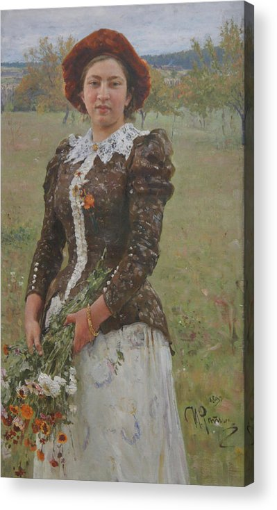 Ilya Repin Acrylic Print featuring the painting Autumn Bouquet by Ilya Repin