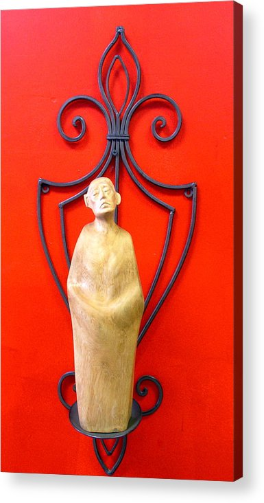 Figure Acrylic Print featuring the sculpture Untitled 6 by Victor Amor