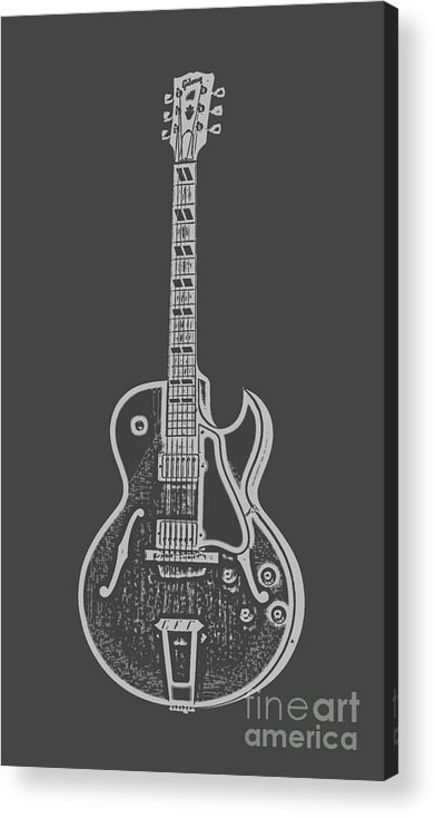 Instrument Acrylic Print featuring the digital art Gibson ES-175 Electric Guitar Tee by Edward Fielding