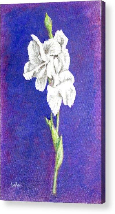 Acrylic Print featuring the painting Gladiolus 2 by Usha Shantharam
