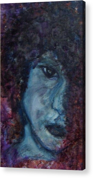 Jim Morrison Acrylic Print featuring the painting Indian Summer Dream detail by Cathy Minerva