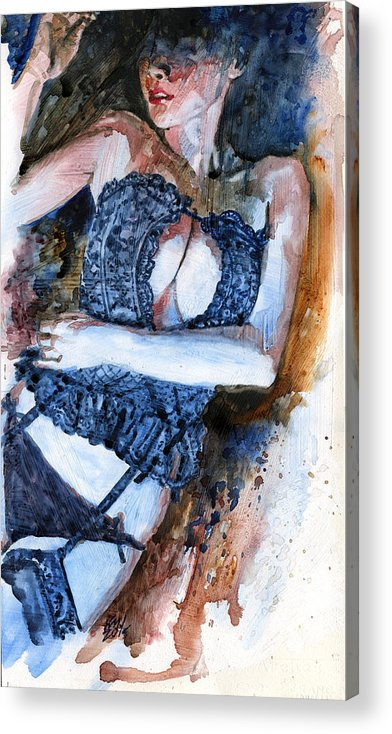 Woman Acrylic Print featuring the painting Languish by Ken Meyer jr