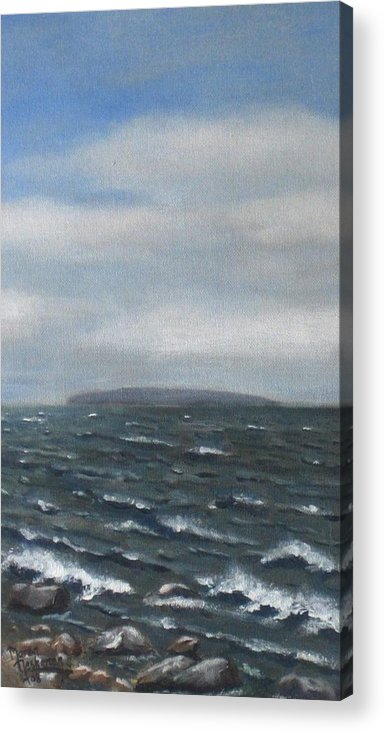 Water Acrylic Print featuring the painting Surge by Maren Jeskanen