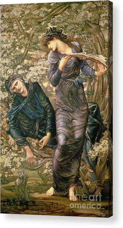 The Beguiling Of Merlin Acrylic Print featuring the painting The Beguiling Of Merlin by Sir Edward Burne-Jones