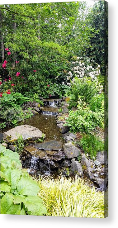 Botanical Floral Nature Acrylic Print featuring the photograph The peaceful place 3 by Valerie Josi