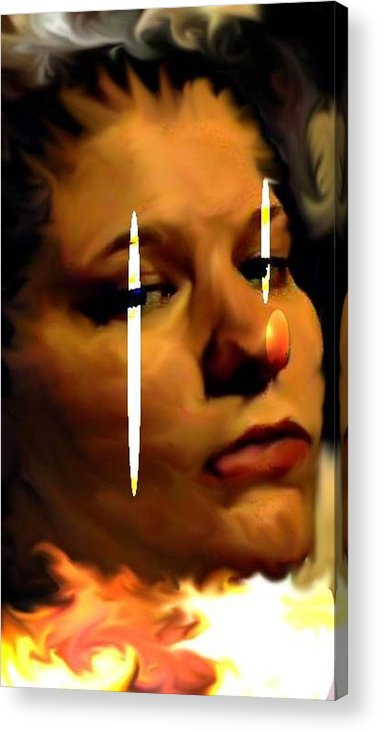 Digital Acrylic Print featuring the digital art Trapped by Crystal Webb