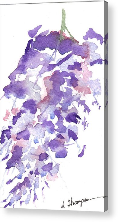 Wisteria Acrylic Print featuring the painting Wisteria Beauty by Warren Thompson