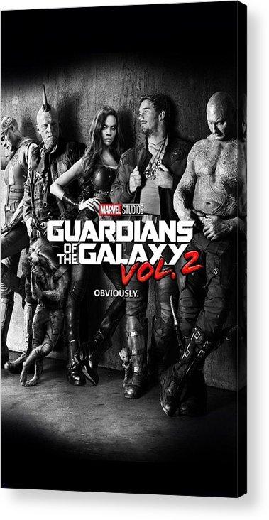 Guardians Of The Galaxy Acrylic Print featuring the digital art Guardians Of The Galaxy by Geek N Rock