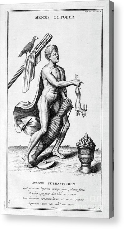 Engraving Acrylic Print featuring the drawing A Representation Of October, 1757 by Print Collector