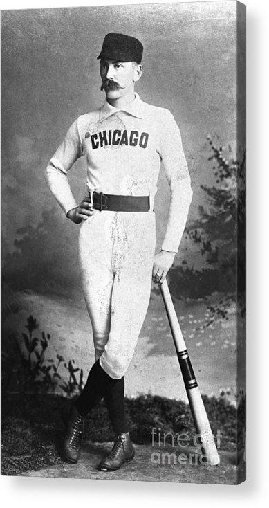 First Baseman Acrylic Print featuring the photograph Cap Anson, Famed Baseball Player by Bettmann