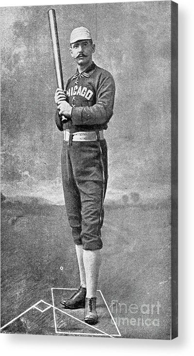 People Acrylic Print featuring the photograph Cap Anson Full Figure by Transcendental Graphics