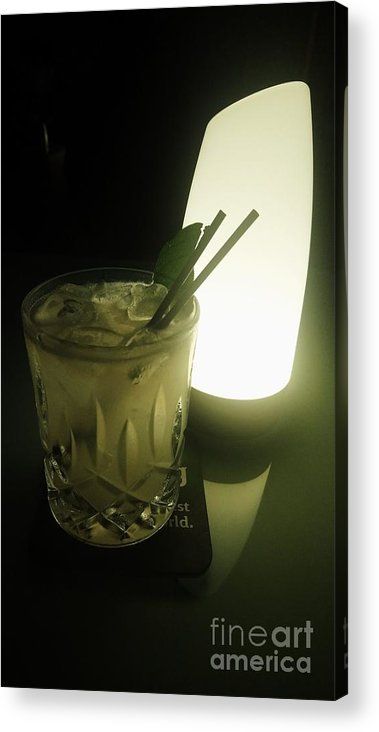 Drinks Acrylic Print featuring the photograph Lime On Fire by Philip