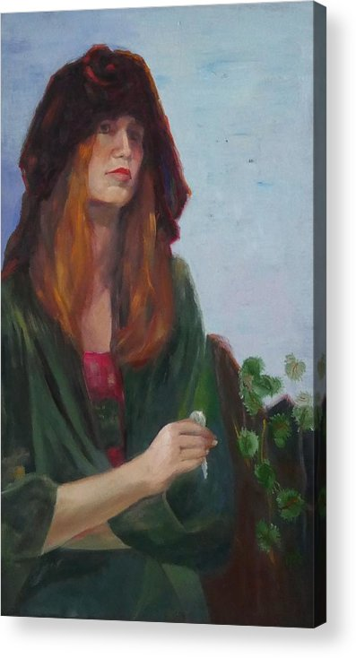Key Acrylic Print featuring the painting Spare Key by Irena Jablonski