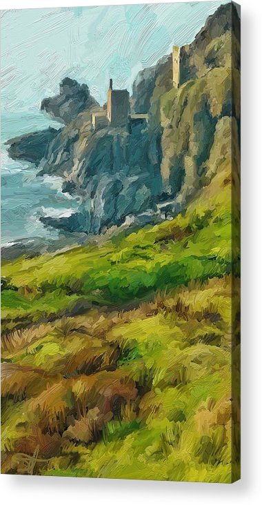 Ipad Acrylic Print featuring the digital art Wheal Bottallack by Scott Waters