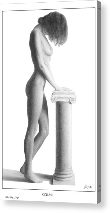 Print Acrylic Print featuring the drawing Column by Joseph Ogle