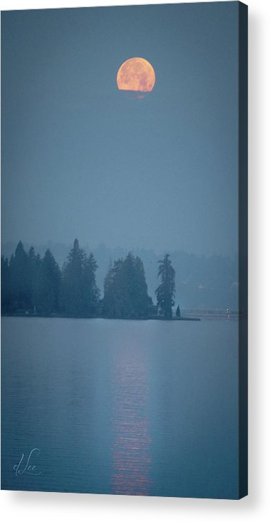 Moon Acrylic Print featuring the photograph Magical Moon Reflections by D Lee
