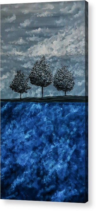 Surrealistic Acrylic Print featuring the painting Beauty In The Breakdown by Joel Tesch