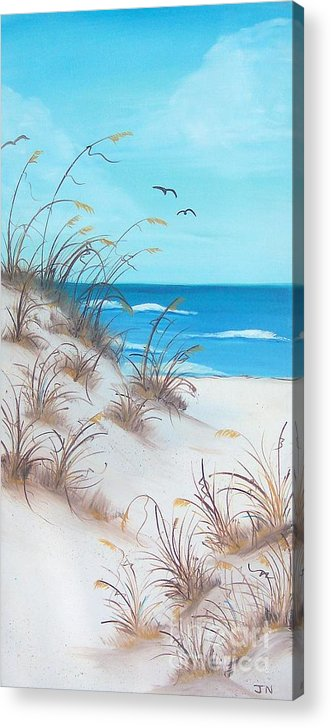 Oil Acrylic Print featuring the painting Dunes Day by JoNeL Art