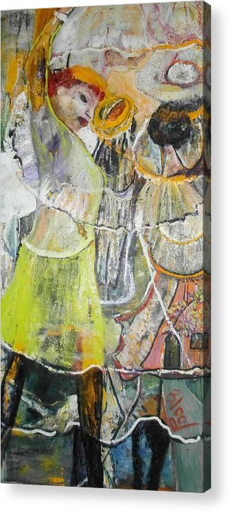 Lady Dancing Acrylic Print featuring the painting Geneva's Disco by Peggy Blood