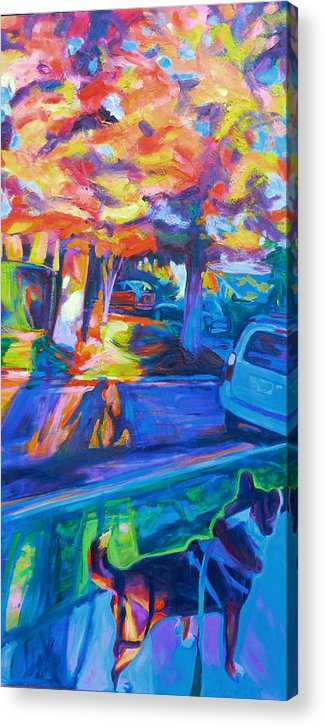 Shade Acrylic Print featuring the painting Scout in the Morning by Bonnie Lambert