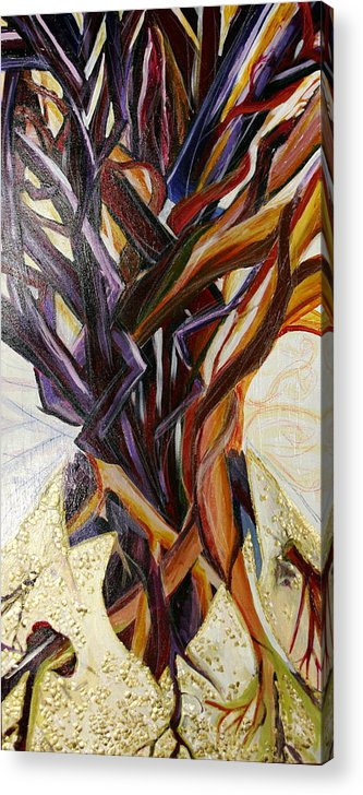 Apple Acrylic Print featuring the painting Fifth World Three by Kate Fortin