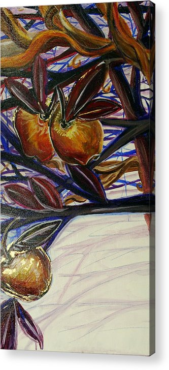Tree Acrylic Print featuring the painting Fifth World Two by Kate Fortin