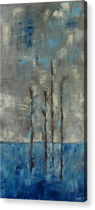Winter Acrylic Print featuring the painting Wintry by Ellen Lewis
