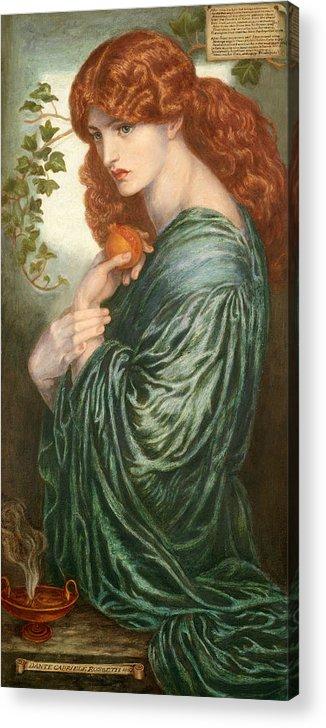 Pre-Raphaelite Art Poster DANTE GABRIEL ROSSETTI Proserpine 1882